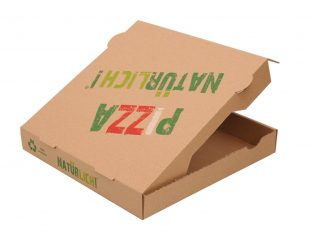 Pizzakarton aus braunem Karton