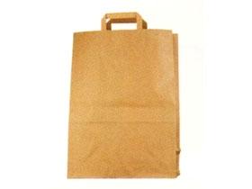 Papiertragetaschen braun 90 gm2, unbedruckt, 320 x 170 x 430 mm, mit