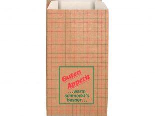 Warmhaltebeutel aus braunem Kraftpapier