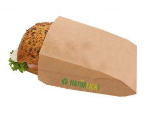 Snackbeutel aus Papier braun