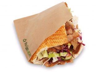 Snackverpackung aus braunem Papier