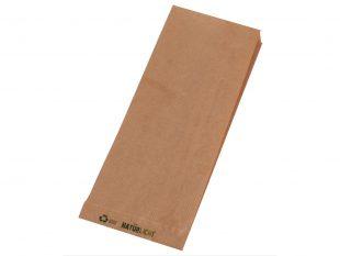Seitenfaltenbeutel aus braunem Kraftpapier