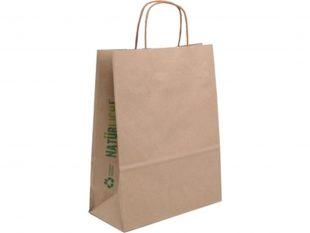 Papiertragetaschen braun, Recycling-Papier