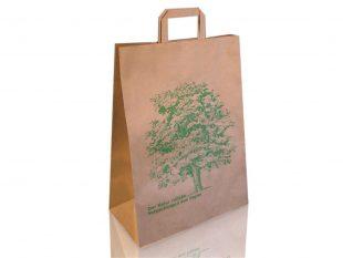 Papiertragetaschen braun, Natron Kraft, Motiv
