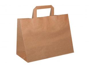 Papiertragetaschen braun, Natron Kraft