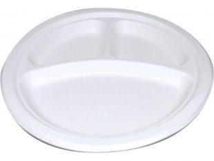 Teller aus Bagasse rund, 3-teilig