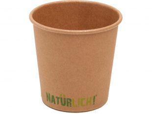 Kaffeebecher aus Pappe braun