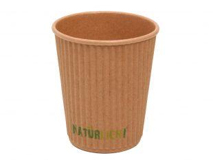 Kaffeebecher braun geriffelt