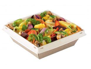Menü-/Salatschalen aus Karton inkl. Deckel