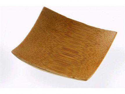 Fingerfood Teller aus Bambus eckig